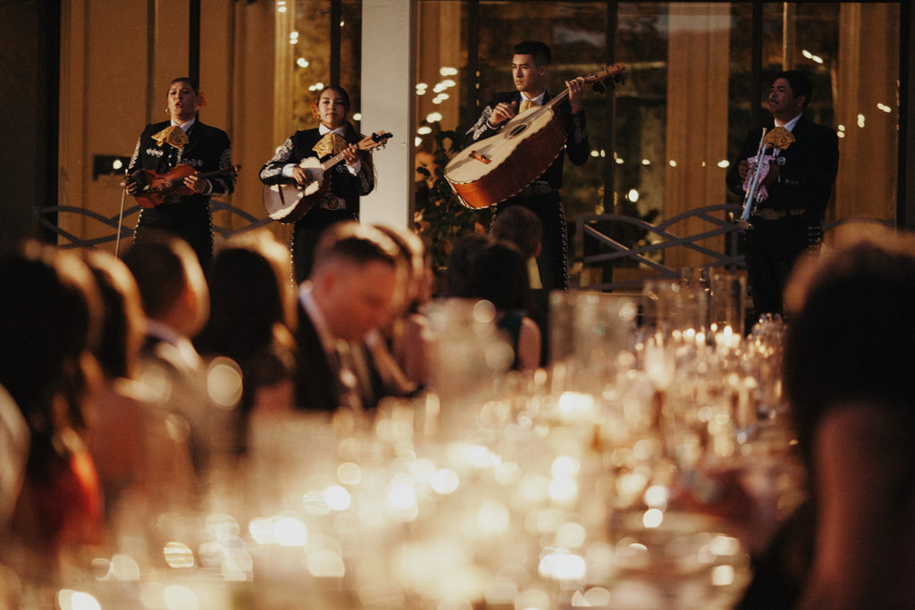 Mariachi band performs at reception