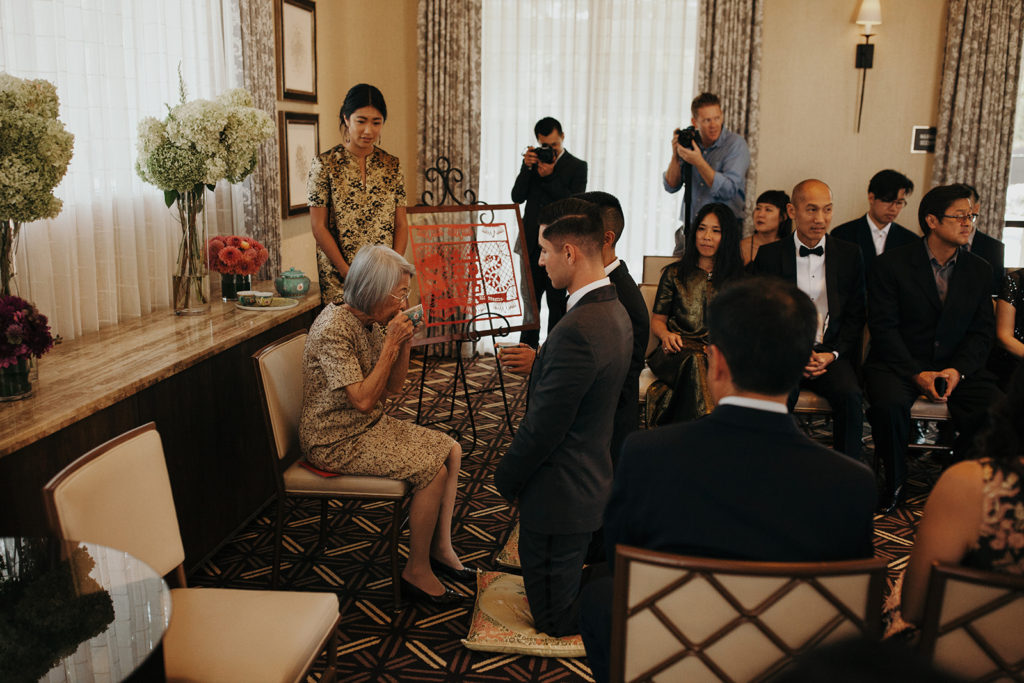 Traditional tea ceremony for Justin & Jo