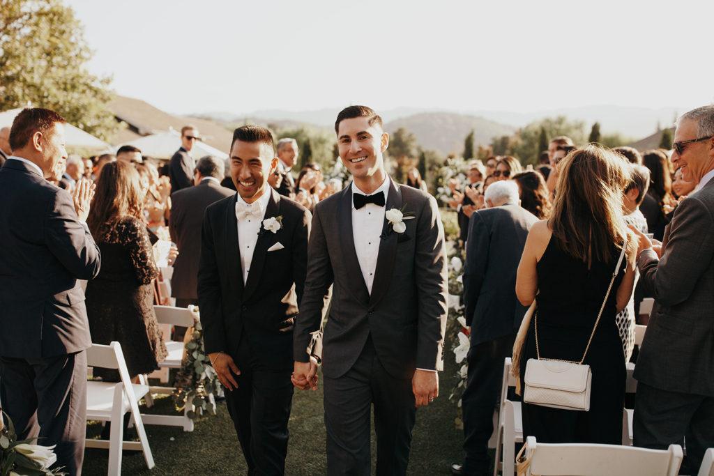 Newly weds Justin & Jo