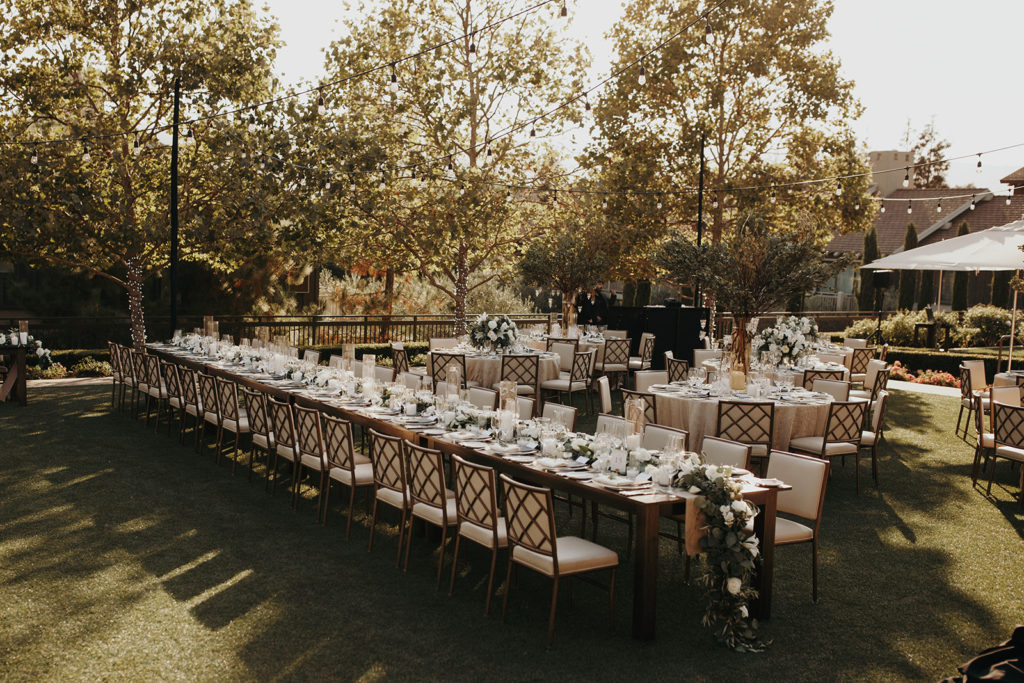 Rosewood Sand Hill Reception Set Up