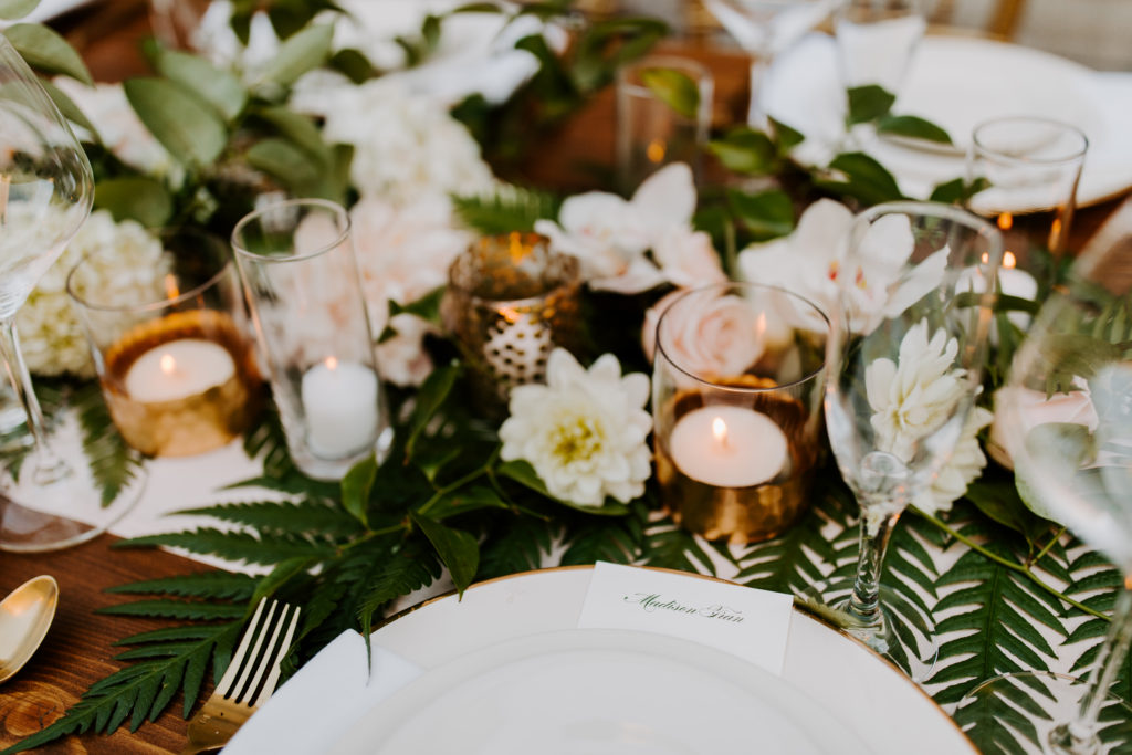 Table setting with florals