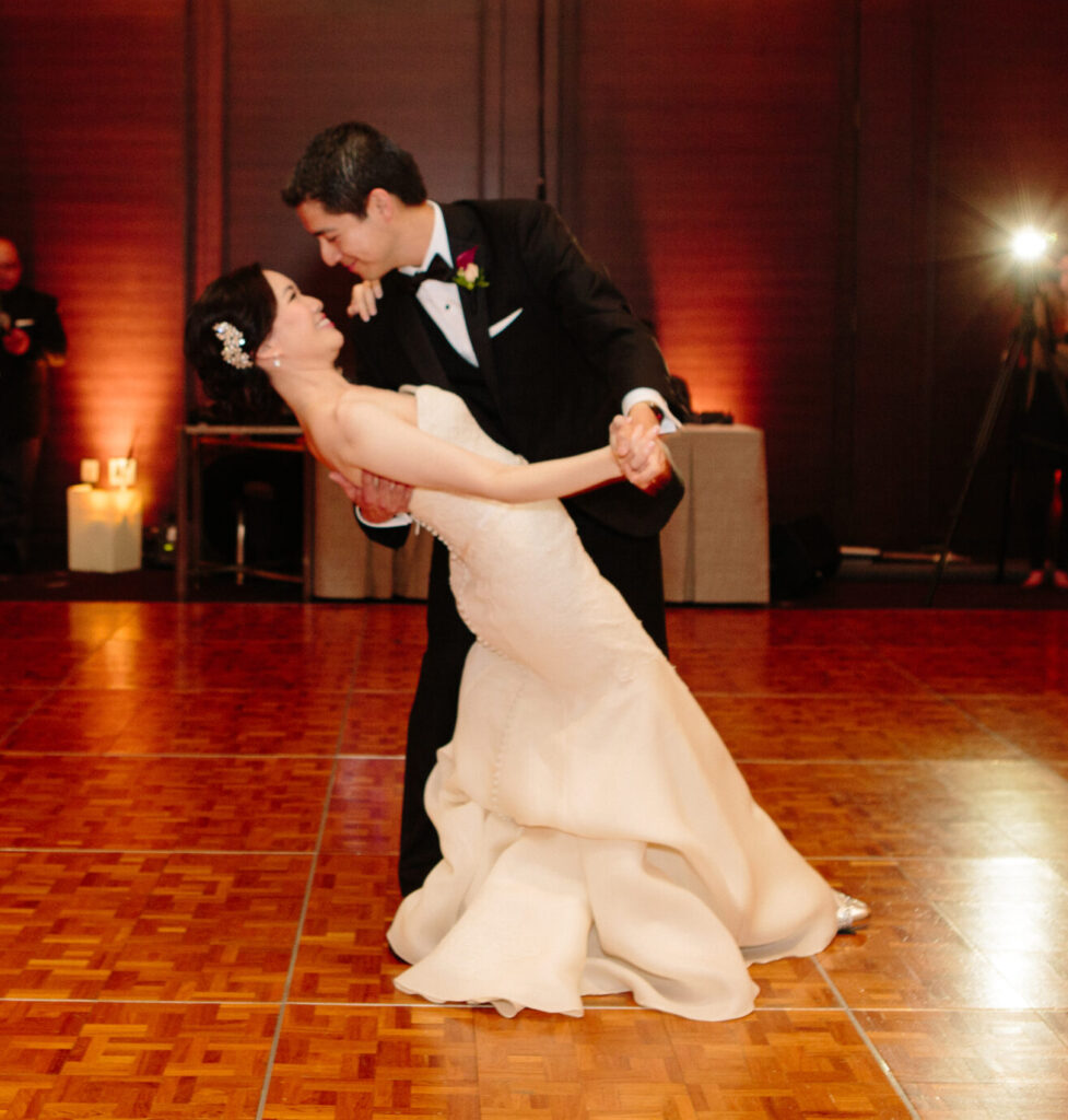 Newly weds dancing at the St. Regis San Francisco